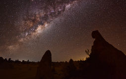 Pinnacles Milky Way. The milky way from the pinnacles national park, Western Australia Stock Photo