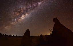 Pinnacles Milky Way Stock Photo