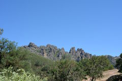 Pinnacles national park high peaks. Spring at Pinnacles National Monument - drought conditions California Soledad United States USA Royalty Free Stock Photography