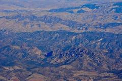 Pinnacles national park machete Ridge aerial photo. Winter at Pinnacles National Monument - drought conditions California Soledad United States USA photo Stock Image
