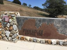 Pinnacles national park picnic and hiking area sign Royalty Free Stock Photos
