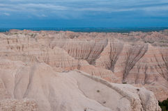 Pinnacles Overlook, Badlands at sunset Royalty Free Stock Photo
