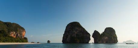 Pinnacles at Pranang beach, Railay Stock Photo