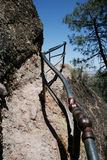 Conservation Corps railing (1930s) at Pinnacles Na Stock Photos