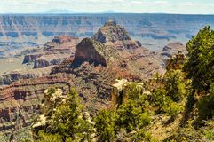 Pinnacles of Rock Rise High Above the Grand Canyon of Arizona stock photography