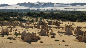 Pinnacles and Sand Dunes Stock Photography
