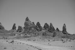 Pinnacles Tufa Spires. Tufa spires at the Trona Pinnacles Royalty Free Stock Images