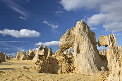 The Pinnacles. View of the Pinnacles Desert in the Numbung National Park, Australia Stock Photos