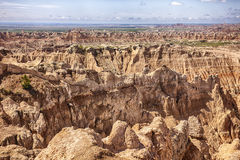 Pinnacles Viewpoint At South Dakota Badlands Royalty Free Stock Image