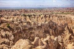 Pinnacles Viewpoint At South Dakota Badlands Royalty Free Stock Image