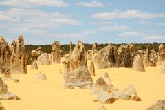 Pinnacles Western Australia Royalty Free Stock Photos