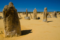The Pinnacles in Western Australia Royalty Free Stock Photography