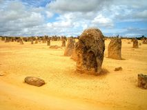 Pinnacles. The Pinnacles, a world wonder set on the Western coast of Australia, just north of Perth Royalty Free Stock Photography