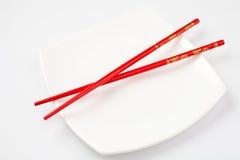 pinnar plate röd white Royaltyfria Foton
