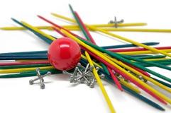 Pinnar, Rubber boll och stålar Royaltyfri Foto