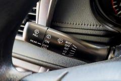 Pinne för kontroll för torkare för bilregnvindruta Arkivbilder