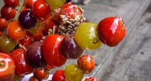 Pinne med frukt Arkivfoton