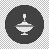 Pinne-?verkant symbol stock illustrationer