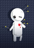 Voodoo doll. A pinned cartoon voodoo dummy Stock Photography