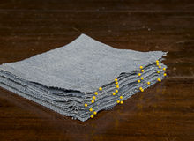 Pinned Denim Quilt blocks Royalty Free Stock Photo