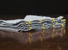 Pinned Denim Quilt blocks Royalty Free Stock Photos