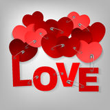 10 pinned heart Stock Photo