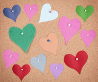 Pinned hearts Royalty Free Stock Photography