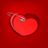 Pinned hearts Royalty Free Stock Photo