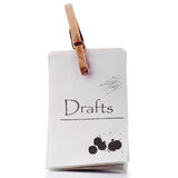 Pinned notepad Royalty Free Stock Image