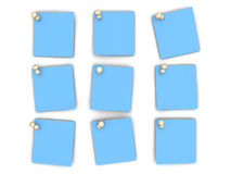 Pinned paper notes Royalty Free Stock Photography