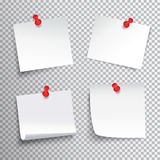 Pinned Paper Set Stock Images