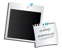 Pinned photo happy birthday. Happy birthday illustration photo moment stock illustration