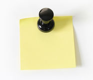 Pinned sticky note Stock Photography