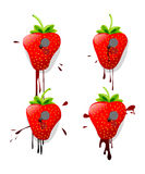 Pinned strawberries Royalty Free Stock Photo