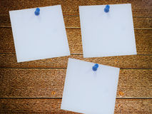 Pinned white paper Royalty Free Stock Photography