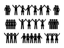 Pinnediagram gruppfolksymbol royaltyfri illustrationer
