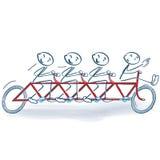 Pinnediagram och cykla som en grupp Royaltyfria Foton