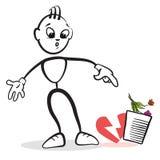 Pinnediagram seriesinnesrörelser - lämna stock illustrationer