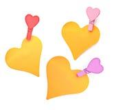 Pinnen met een hart. Stock Foto