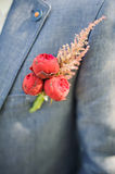 Pinning a Boutonniere Stock Photography