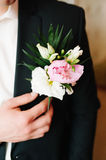 Pinning a Boutonniere Royalty Free Stock Photography