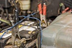 pinnor för batteribil Arkivfoton