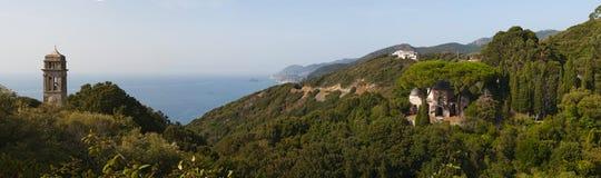 Pino, Corse Haute, capo Corse, Corsica, Corsica superiore, Francia, Europa, isola Fotografia Stock Libera da Diritti