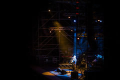 Pino Daniele on the Stage. At Rivisondoli Royalty Free Stock Images