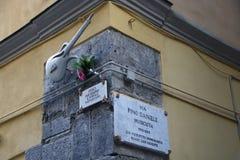 Pino Daniele-straat stock afbeeldingen