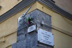 Pino Daniele-straat royalty-vrije stock foto's