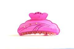 pino de cabelo cor-de-rosa da mulher Imagens de Stock
