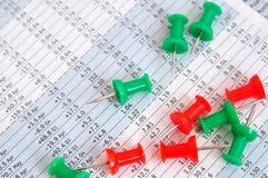 Pino de Darwing e folha de dados Fotografia de Stock Royalty Free