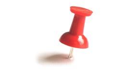 Pino de desenho vermelho com sombra. Foto de Stock