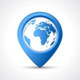 Pino do mapa de Geo ilustração royalty free